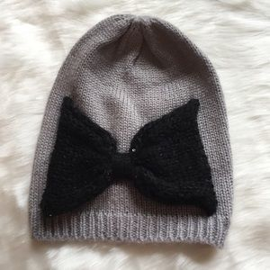 Sequin Bow Hat